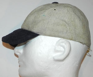 Circa 1920 s Short Billed Baseball Cap. This cap features an H on its front  that has lost the felt portion 6101af6f3b8